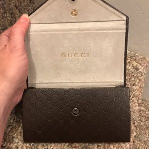Gucci leather money/card holder